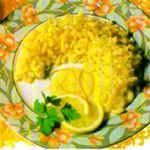 Pasta con salsa al limone.