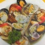 Zuppa di frutti di mare al vino bianco
