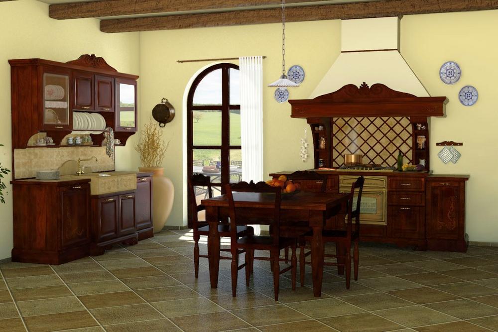 Cucine della Nonna  Come arredare la cucina rustica