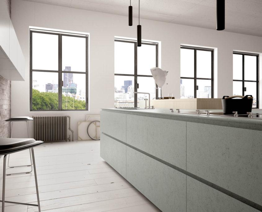 Dove e perche usare le resine? Cucina Con Piano E Ante In Resina Vari Colori Cucinemoderne Com