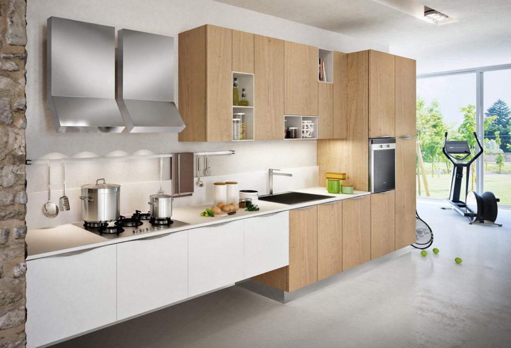 cucina bianca per ambiente moderno e sempre attuale  CucineModerne