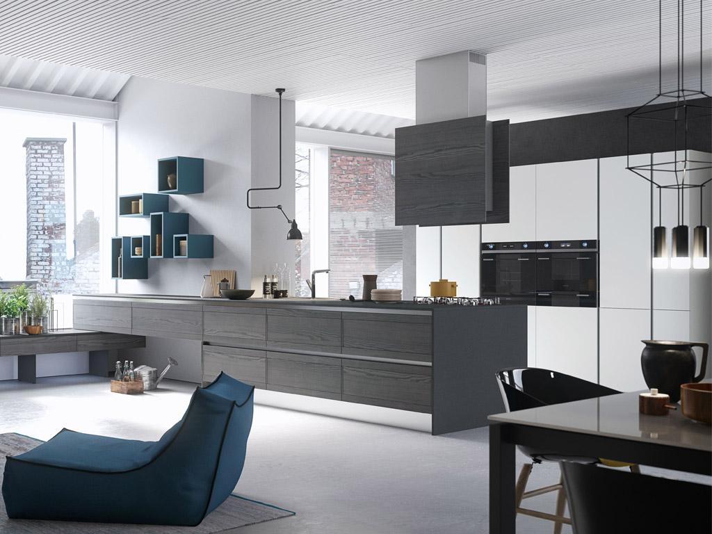 Come arredare un open space con cucina; Wonderwall Cucine Open Space