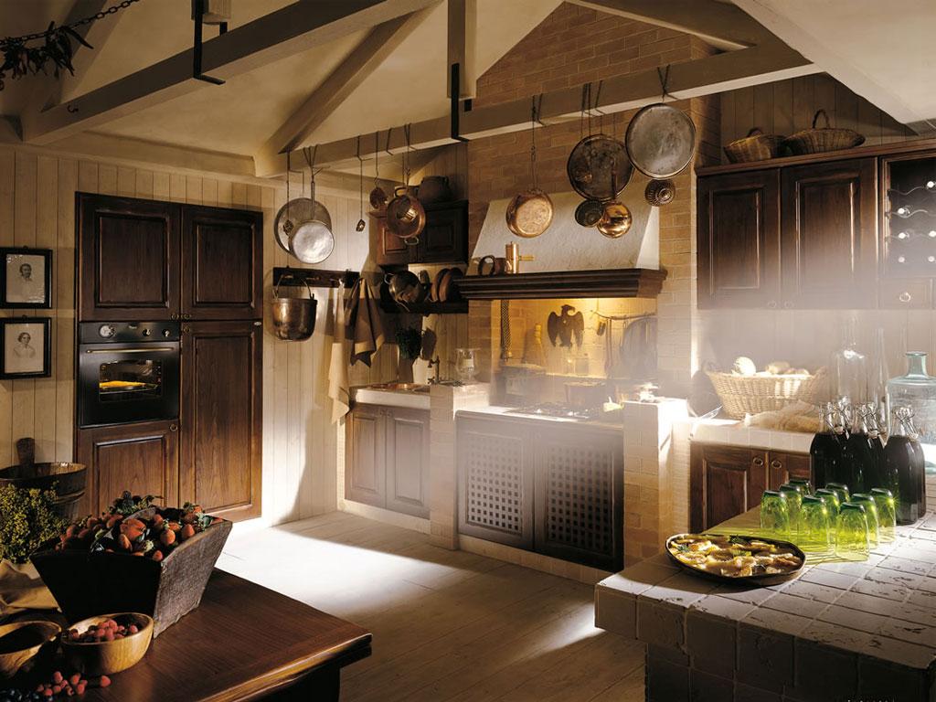Vecchio Casolare  Cucine in muratura piastrellata