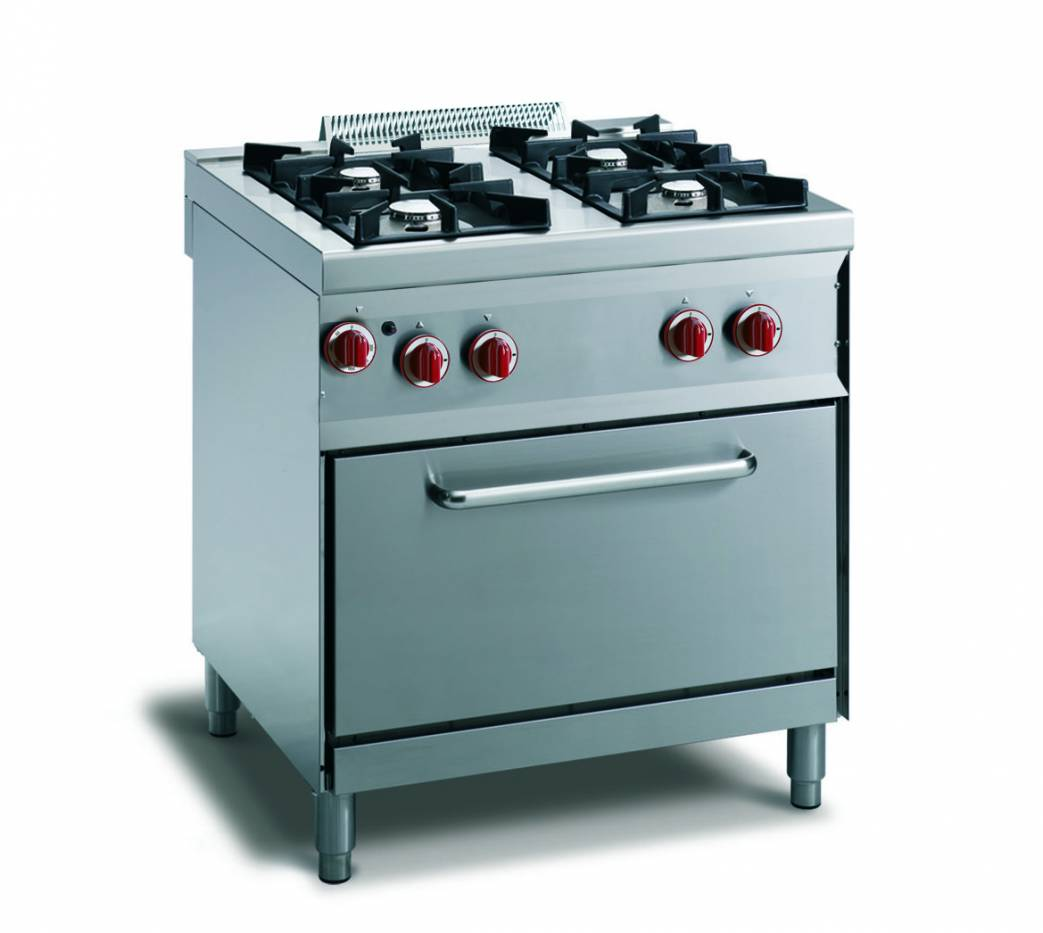 Cucina gas 4 fuochi fiamma pilota  forno gas gn 11  vendita online Cucina a Gas