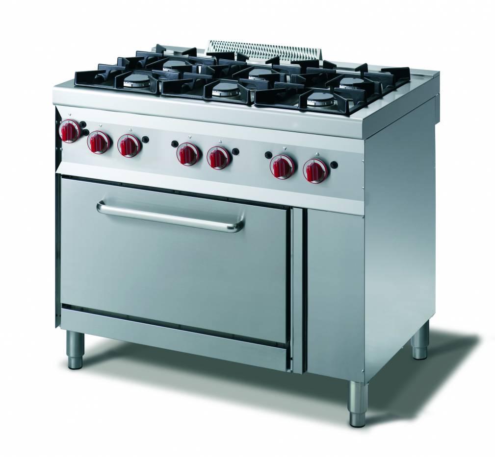 Cucina gas 4 fuochi  forno gas gn 11  vendita online Cucina a Gas