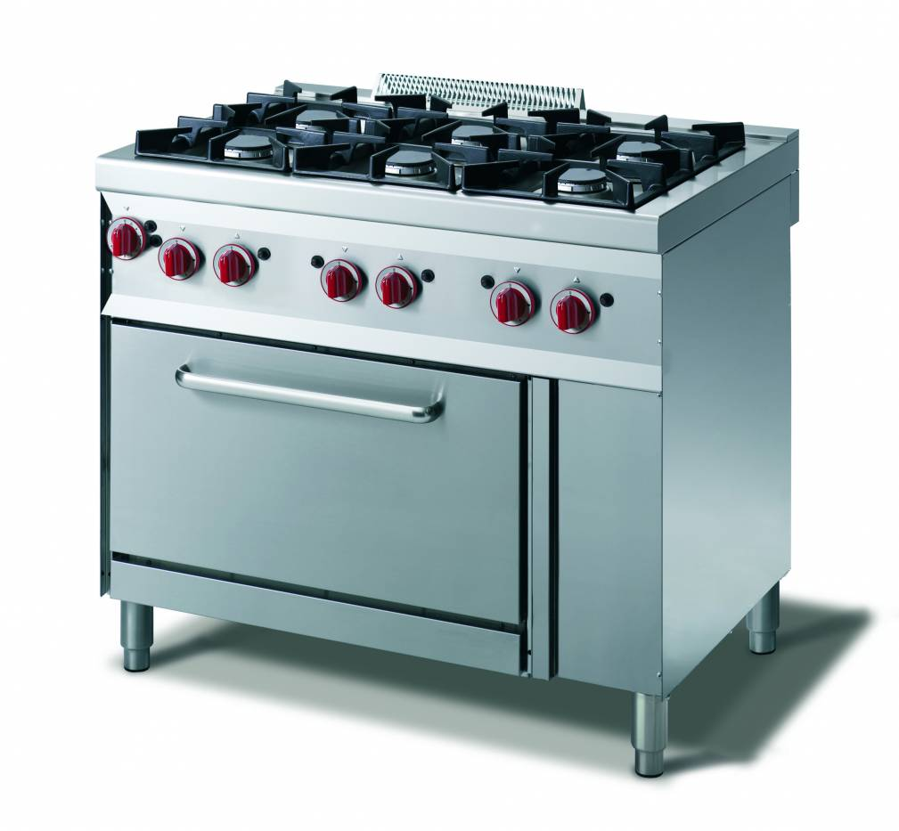 Cucina gas 4 fuochi  forno gas gn 11  vendita online