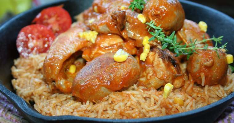 red rice pollo