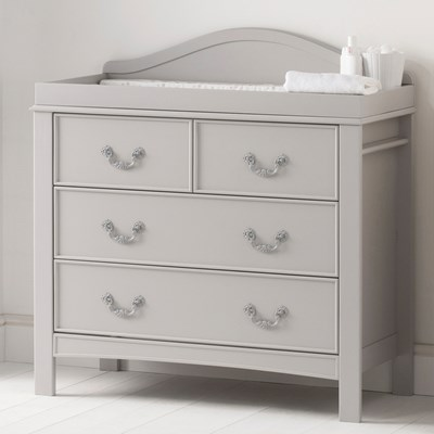 east coast toulouse dresser baby change unit in french grey design
