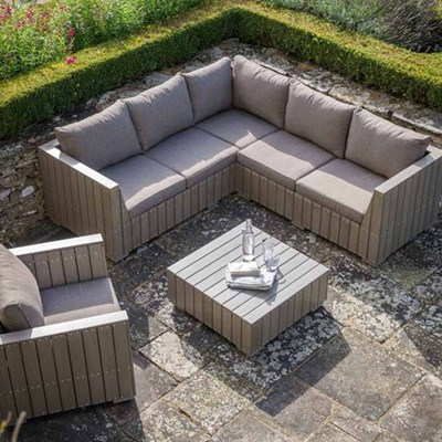 Garden Trading Bosham Outdoor Corner Sofa Set In Polywood