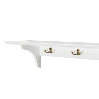 Children39s Storage Shelf With Hooks In White Desks