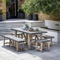Garden Trading Chilson Table, Bench And Stool Dining Set