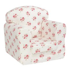 Kids Arm Chairs Louis 15 Armchair Chair With Removable Covers Churchfield Cuckooland Unique Rose Print For Children