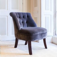 Velvet Tub Chair in Cocoa - Occasional Chairs   Cuckooland