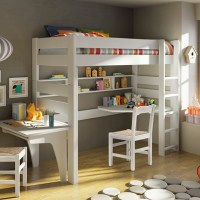 Mathy By Bols Raised Kids Bed With Corner Desk In ...