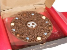 "7"" Football Chocolate Pizza - Unique Gift Ideas 