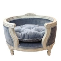 The George Luxury Designer Pet Bed In Pile Grey - Lord Lou ...