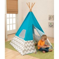 Kids Teepee Play Tent In Turquoise, Grey & White ...