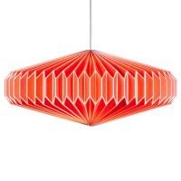 Zodiac Paper Lamp Shade In Goldfish Orange - Wild And Wolf ...
