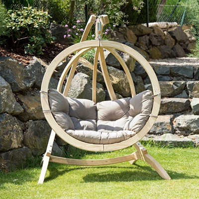 Globo Garden Hanging Chair Stand In Weatherproof Taupe Amazonas Cuckooland
