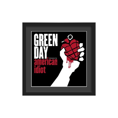 Green Day Framed Album Wall Art In American Idiot Print  Athena  Cuckooland