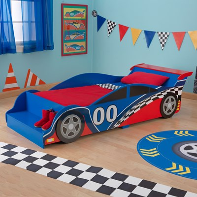 Race Car Toddler Bed Boys & Girls - Kid Kraft Cuckooland