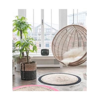 Rattan Indoor Hanging Chair In Black  Hk Living  Cuckooland