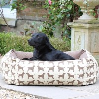 Dog Bed in Labrador Print - Dog & Pet Beds | Cuckooland