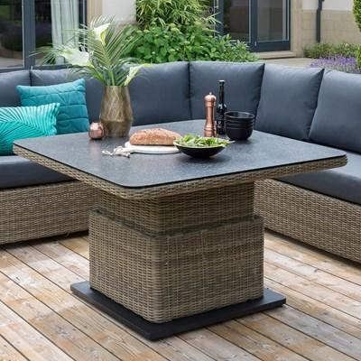 Aya Outdoor Corner Sofa Set With Adjustable Height