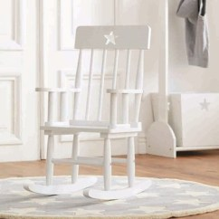 White Wood Rocking Chair Oak Side Chairs Star Wooden Kids Concept Cuckooland