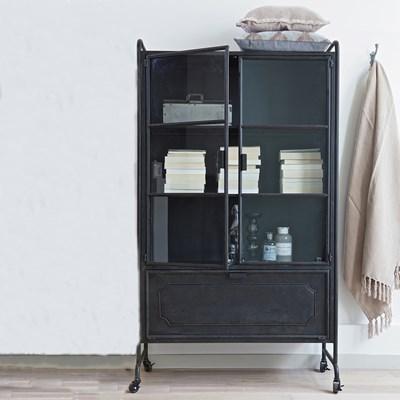 Dutchbone Shelf Iron Display Cabinet In Industrial Style