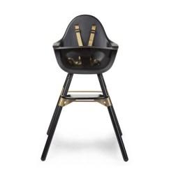 Retro High Chairs Babies Cheap Counter Height Baby Nursery Furniture Cuckooland 2 In 1 Evolu Chair Black Gold