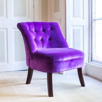 Velvet Tub Chair in Violet - Tub Chairs   Cuckooland
