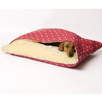 Snuggle Dog Bed In Dotty Raspberry Design - Dog & Cat Beds ...