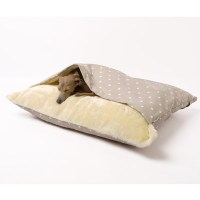 Snuggle Dog Bed In Dotty Taupe Design - Dog & Cat Beds ...