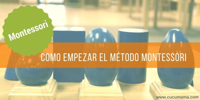 Empezar Montessori