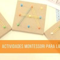 Actividades Montessori para preparar la mano para la escritura.