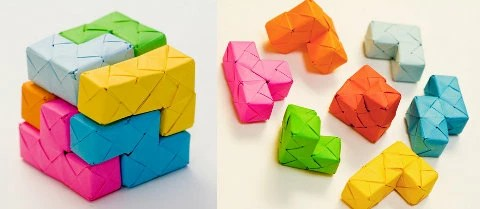 cubo soma de papel
