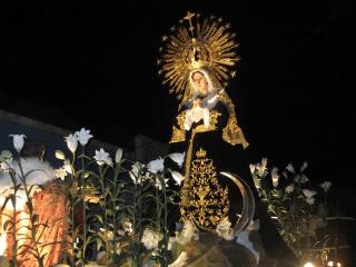 procesion de velacion de la virgen de soledad de la recoleccion