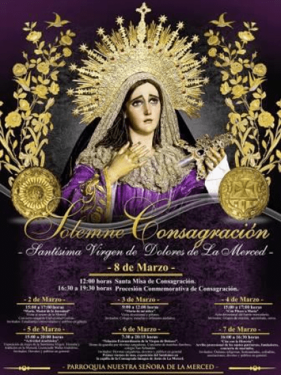 Actividades de Consagracion Virgen de Dolores de la Merced 2015