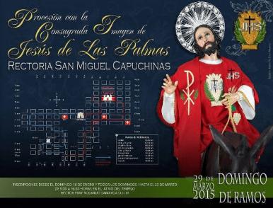 recorrido procesion jesus de las palmas, capuchinas domingo de ramos 2015