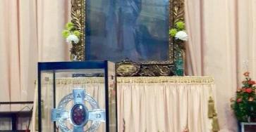 Altar Cuadro y reliquia San Judas Tadeo en la Merced