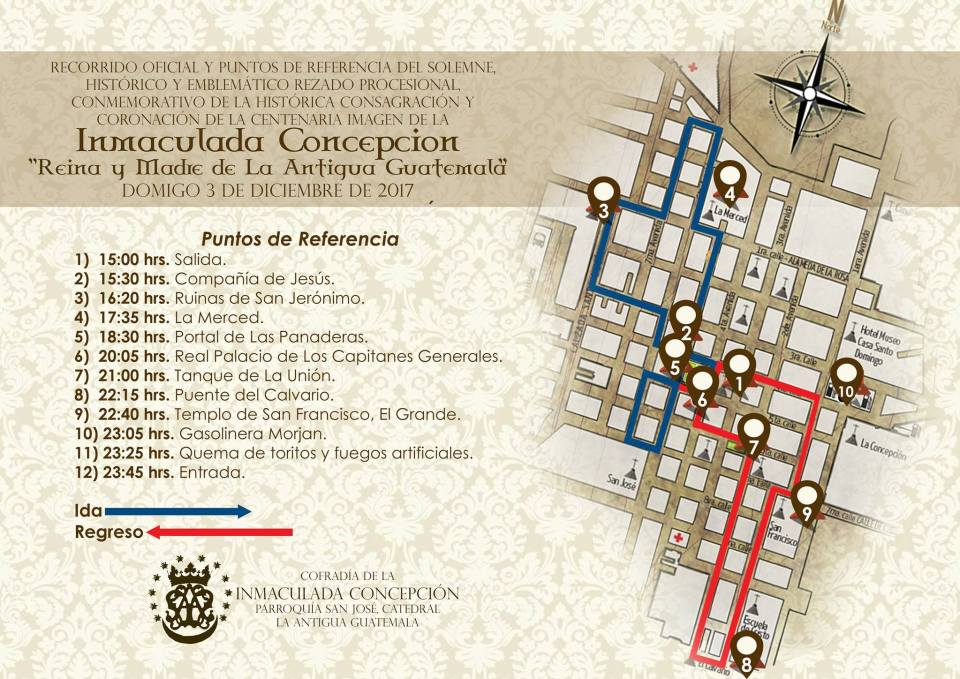 Recorrido Inmaculada Concepcion de Catedral Antigua Guatemala