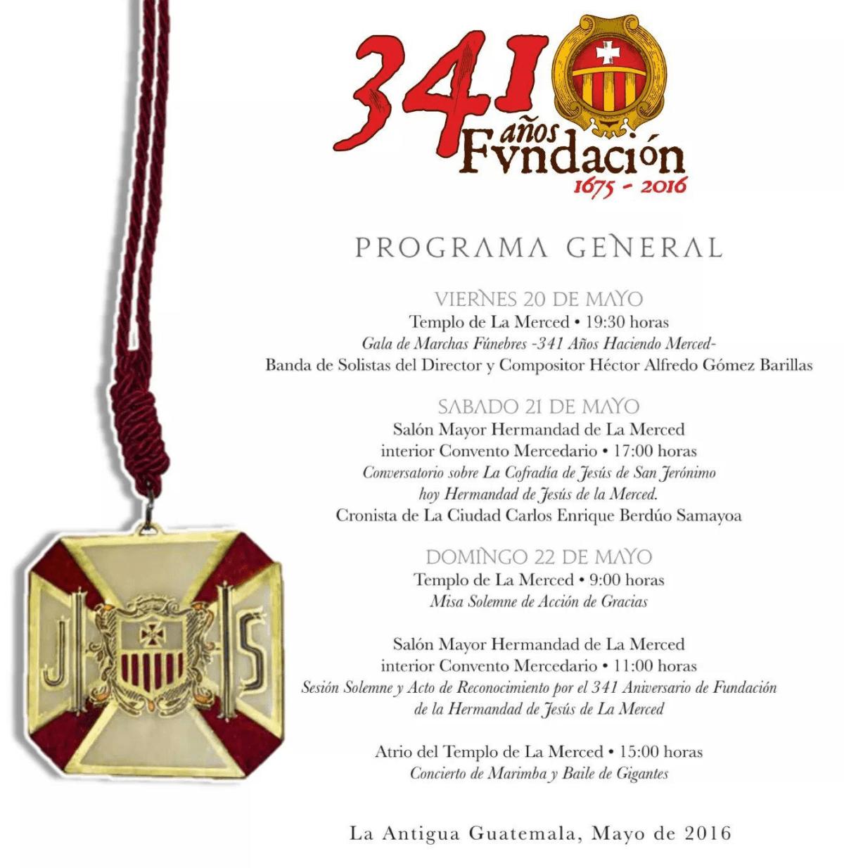 341 Años de Fundación Hermandad de la Merced