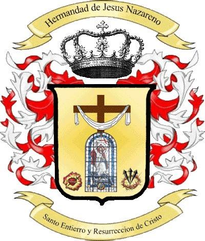 Escudo de La Hermandad de Jesús Nazareno, Santo Entierro y Resurrección de Cristo de Juayúa.