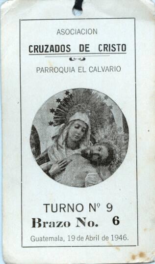 Turno de 1946 para llevar en hombros a Nuestra Señora de la Piedad