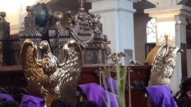andas procesionales Jesús de los Milagros y Virgen de Dolores Domingo de Ramos