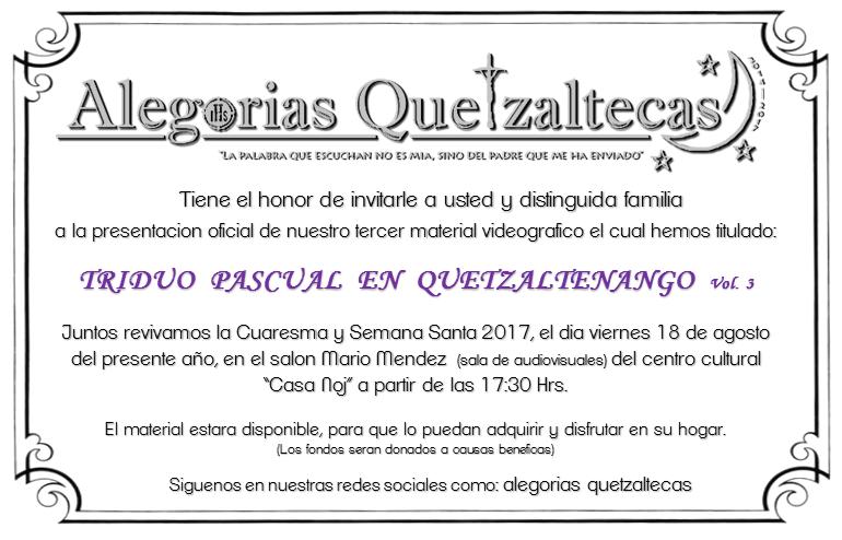 Cuaresma y Semana Santa de Quetzaltenango 2017