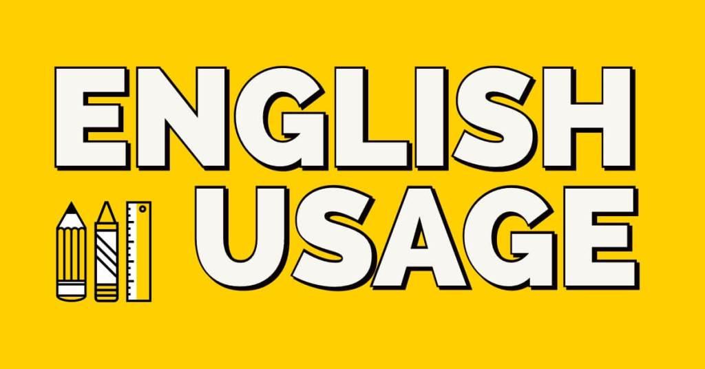 English usage lessons