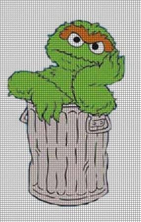 Oscar The Grouch Crochet Pattern