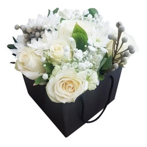 White roses and floral mix